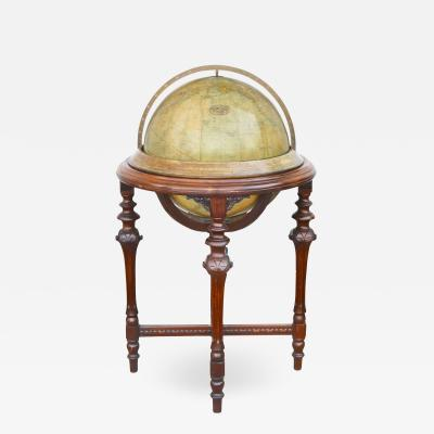 Rand McNally Terrestrial Globe on Mahogany Base