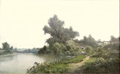 Ransom Gillet Holdredge Village Fishing and View Along the Russian River