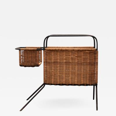 Raoul Guys Raoul Guys metal and rattan canine inspired magazine holder