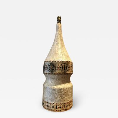 Raphael Giarrusso Ceramic Lamp France 1960s