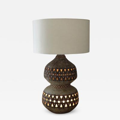 Raphael Giarrusso Raphael Giarrusso French Ceramic Table Lamp Accolay 1967