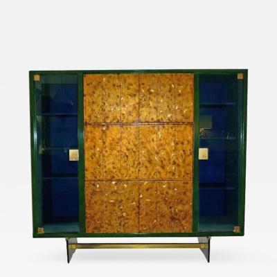 Raphael Raffel Raphael Rare Drop Front Libraire Cabinet in Original Lacquer France Circa 1962