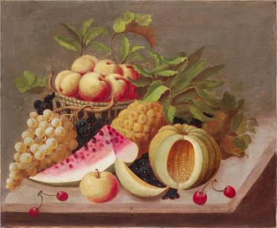 Raphaelle Peale Still Life with Melon and Grapes