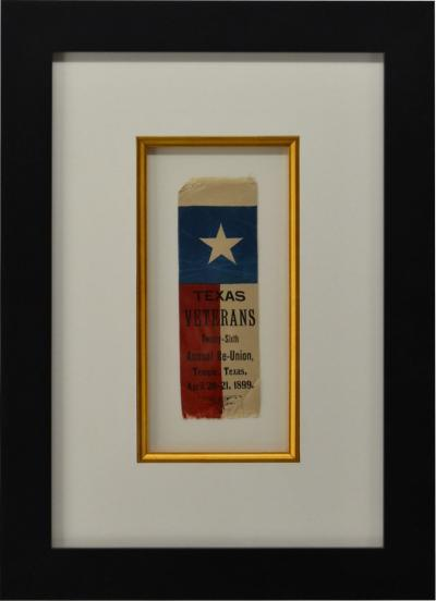 Rare 1889 Texas Revolutionary War Veteran Reunion Ribbon