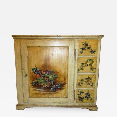 Rare 18th Century Italian Painted Cupboard