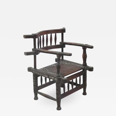 Rare 1950s Ashanti Throne Chair