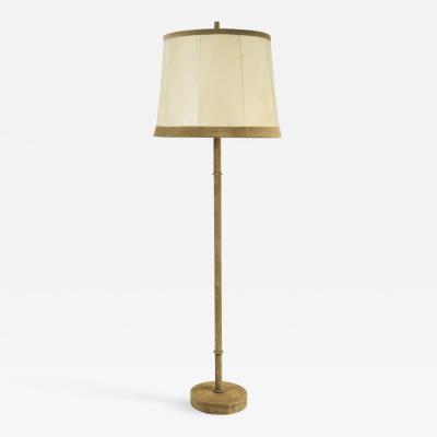 Rare 1960s Suede floor lamp