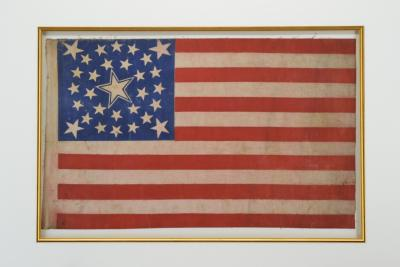 Rare Antique 30 Star American Flag with Rare Halo Star Arrangement