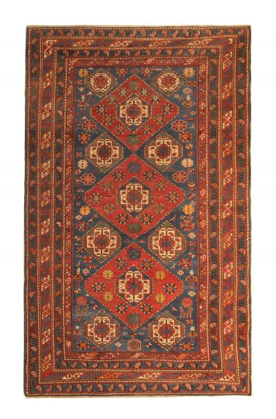 Rare Antique Red Shirvan Rug Oriental Wool Carpet 135x260cm