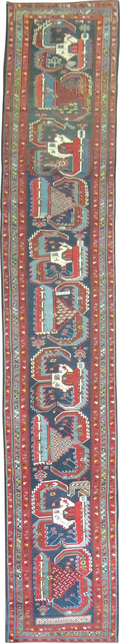 Rare Antique Talish Runner rug no 8864