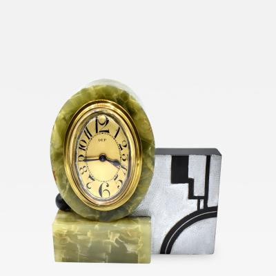 Rare Art Deco Modernist Alarm Clock by Dep Circa 1930