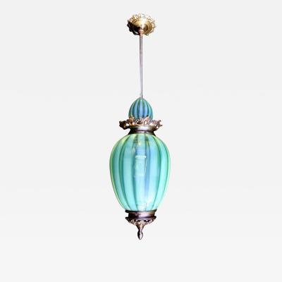 Rare Bohemian Art Glass Ceiling Light 1920s