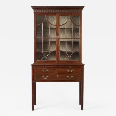 Rare Chippendale Desk and Bookcase