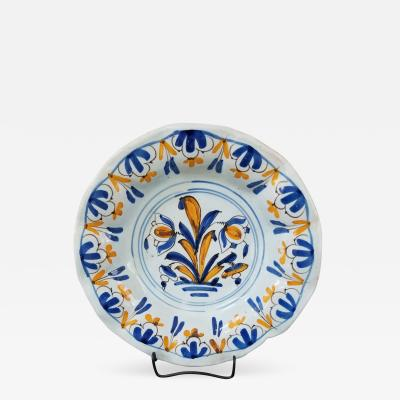 Rare Delft lobed plate