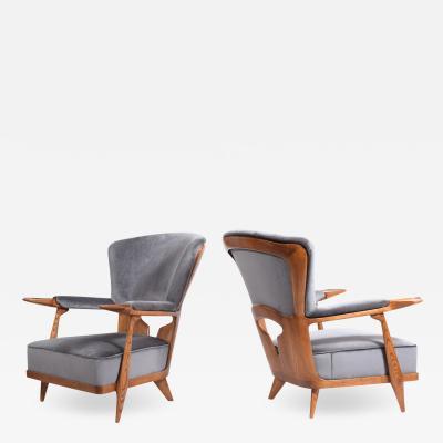 Rare Easy Chairs By Enrico Ciuti