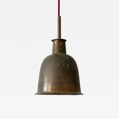 Rare Elegant Mid Century Modern Brass Church Pendant Lamp Germany 1950s