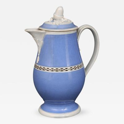 Rare English Mocha Coffee Pot Circa 1820