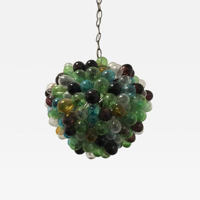 Rare French Blown Glass Grapes Chandelier