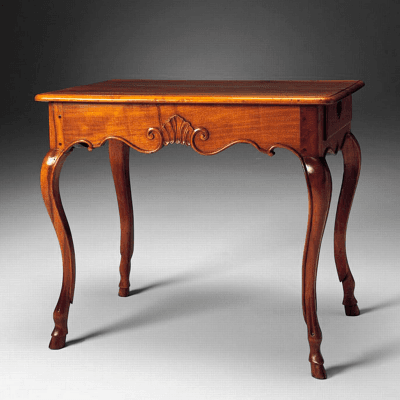 Rare French Regence Period Light Walnut Table