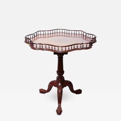 Rare George II Mahogany Tilt Top Wine Table