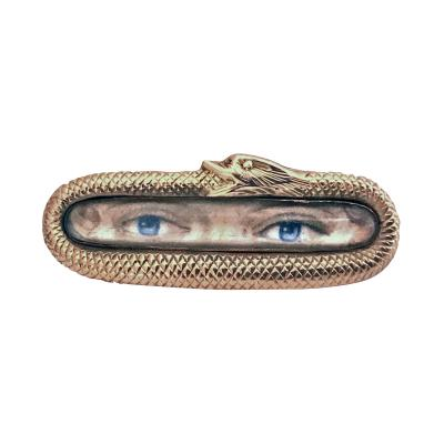 Rare Georgian Lovers Eye Brooch English C 1800