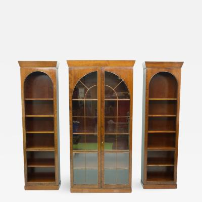 Rare Hans Hopfer Display Bookcase Cabinet Cherrywood WK Germany