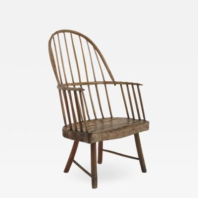 Rare Irish Famine Chair In A Primitive Windsor Style Mid 19th Century