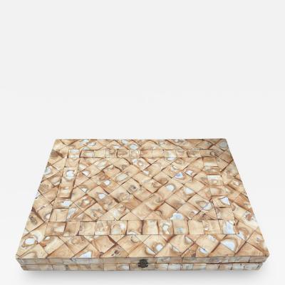Rare Italian decorative wood Backgammon Game Board circa 1970