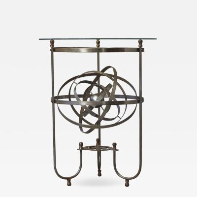 Rare Kinetic Side Table with Revolving Orbital Motion England 1930s