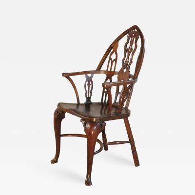 Rare Late 18th Century George III Gothick Yew Wood Windsor Chair