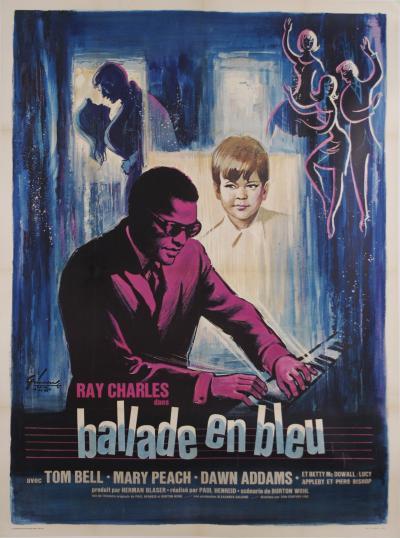 Rare Original French Ray Charles Movie Poster 1956