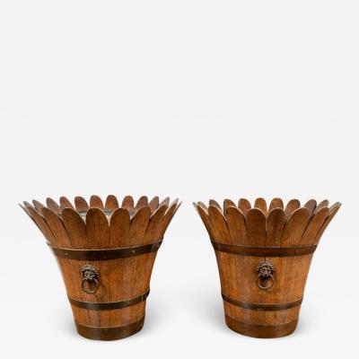Rare Pair of Antique English Planters