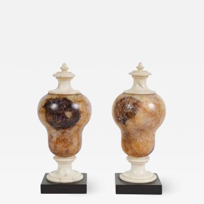 Rare Pair of Blue John decorative Urns