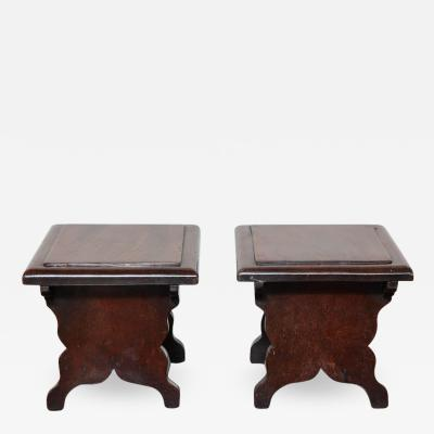 Rare Pair of Georgian Dresser Stools