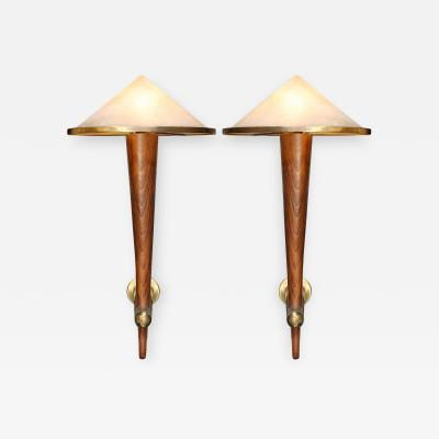 Rare Pair of Torcheres Sconces from Caf Francais Paris 1970