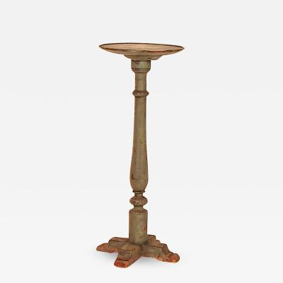 Rare Pine Cross Base Candle Stand