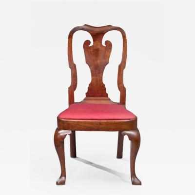Rare Queen Anne Figured Walnut Side Chair