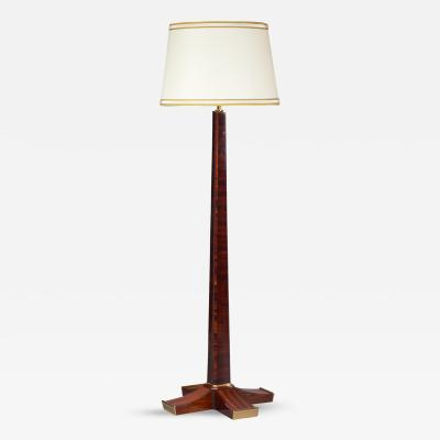 Rare Rosewood Floor Lamp France 1930s