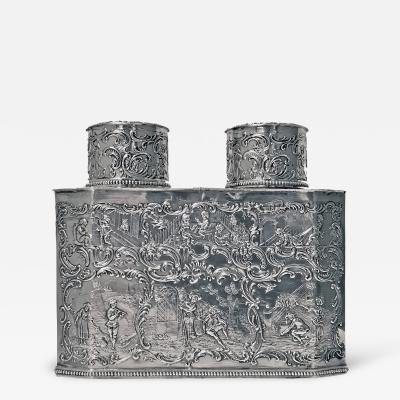 Rare Silver Double Tea Caddy Germany C 1880