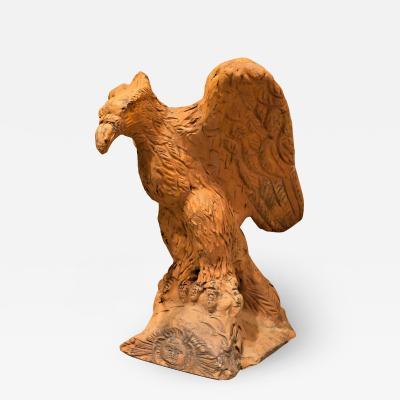 Rare Terracotta Garden Eagle Circa 1800 Prussia