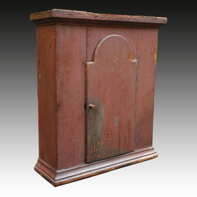 Rare Tombstone Door Wall Cupboard