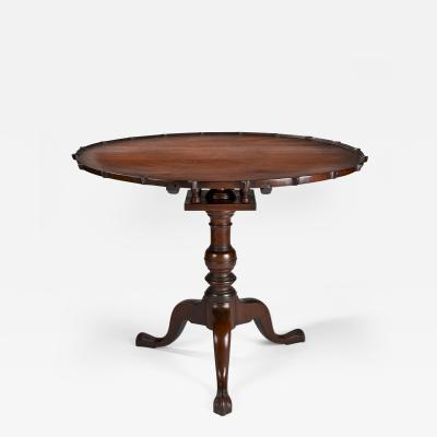 Rare Walnut Pie Crust Tea Table