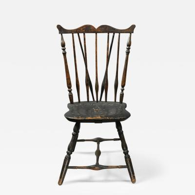 Rare Windsor Brace Back Side Chair Connecticut Circa 1760