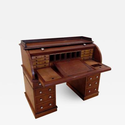 Rare and Exceptional Mahogany Working Model of a Roll Top Desk