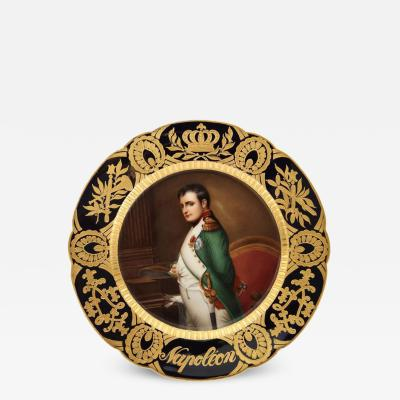 Rare and Exceptional Royal Vienna Porcelain Plate of Napoleon by Wagner