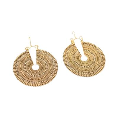 Rare and Extraordinary 22K Gold Earrings with Fine Granulation Work