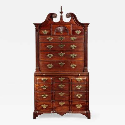 Rare and Important Chippendale Block Front Chest on Chest