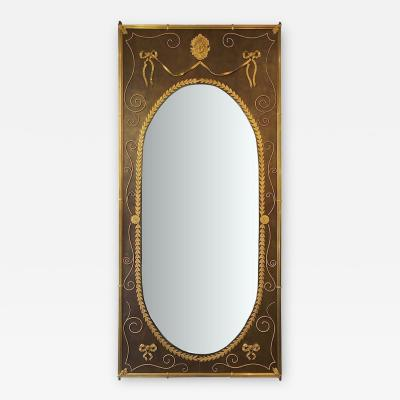 Rare and Important Woodwork Mirror in Louis XVI style circa 1880