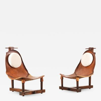 Rare and Unusual Pair of Brazilian Chairs from the 1960s