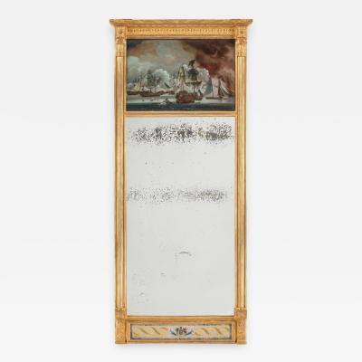 Rare early 19th century commemorative pier mirror